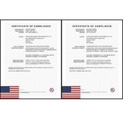 樱花电梯荣获美国UL防火门、防火门框认证